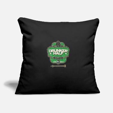"Half Moon Shes My Drunker Half Couple St Patricks Day Gift - Throw Pillow Cover 18"" x 18"""