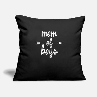 "Us Mom of boys - Throw Pillow Cover 18"" x 18"""