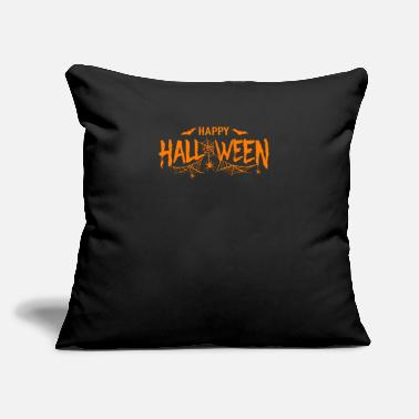 "Symbol Happy Halloween - Throw Pillow Cover 18"" x 18"""