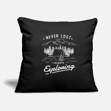 "Always Never Lost Always Exploring - Throw Pillow Cover 18"" x 18"""