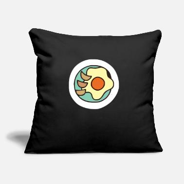 "Fried Egg fried eggs - Throw Pillow Cover 18"" x 18"""