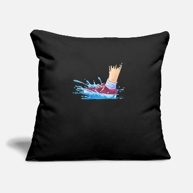 "Wet Wet Shoes - Throw Pillow Cover 18"" x 18"""