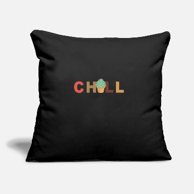 "Chill Chill - Chilling - Throw Pillow Cover 18"" x 18"""