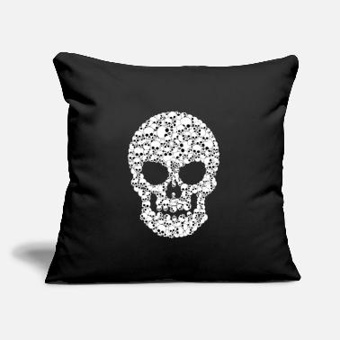 "Skull Skull Skull Skulls One and Thousands Skulls - Throw Pillow Cover 18"" x 18"""