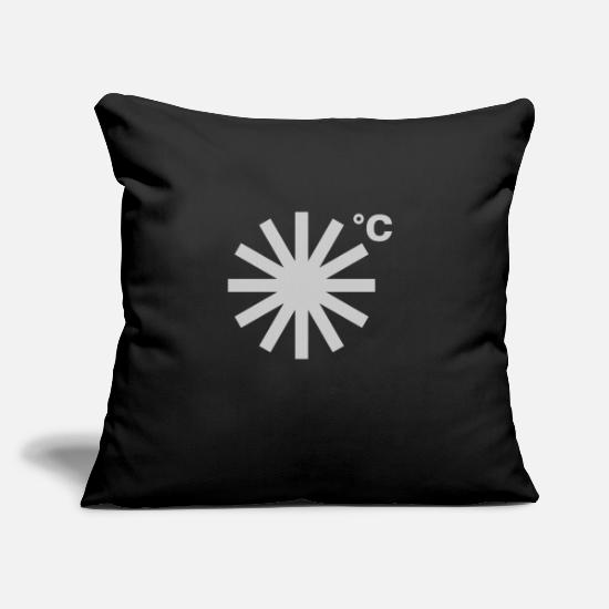 "Earth Pillow Cases - It's Going to Snow - Throw Pillow Cover 18"" x 18"" black"