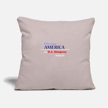 "Obama obama - Throw Pillow Cover 18"" x 18"""