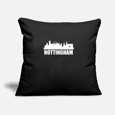 "Nottingham Nottingham Skyline - Throw Pillow Cover 18"" x 18"""