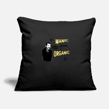 "Manic Manic for Organic v2 - Throw Pillow Cover 18"" x 18"""