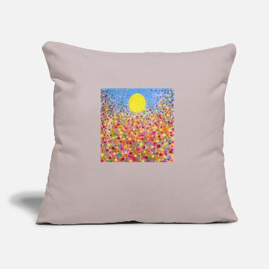 "Meadow Wildflower Meadows - Throw Pillow Cover 18"" x 18"""