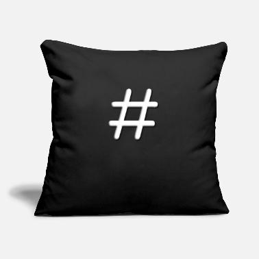 "Tic Tac Toe Tic Tac Toe Hashtag - Throw Pillow Cover 18"" x 18"""