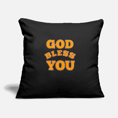 "Bless You God bless you - Throw Pillow Cover 18"" x 18"""
