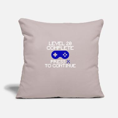 "Video 20 Birthday Gaming Freak - Throw Pillow Cover 18"" x 18"""