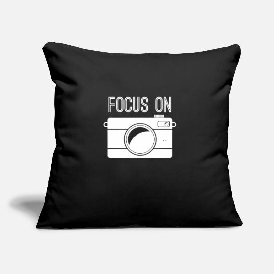 "Image Pillow Cases - Focus on camera - Throw Pillow Cover 18"" x 18"" black"