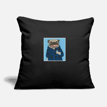 "Fashion fashion dog 98983 - Throw Pillow Cover 18"" x 18"""