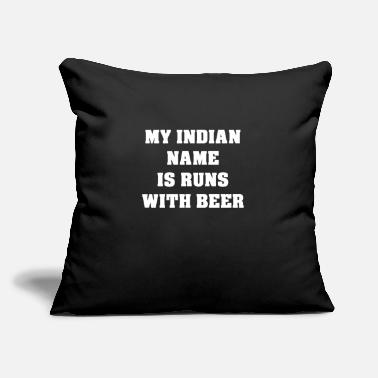 "Name Day Indian Name - Throw Pillow Cover 18"" x 18"""