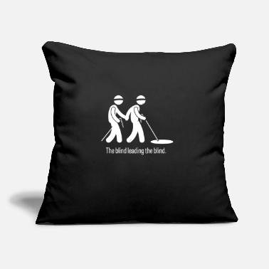 "Blind The Blind Leading The Blind - Throw Pillow Cover 18"" x 18"""