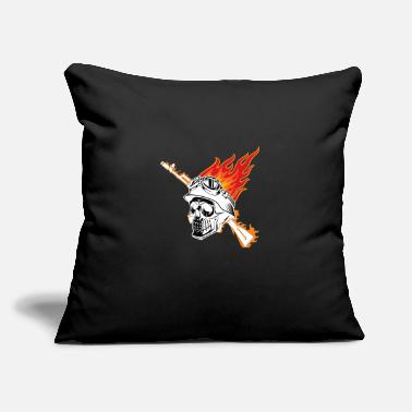 "Skull solidier skull - Throw Pillow Cover 18"" x 18"""