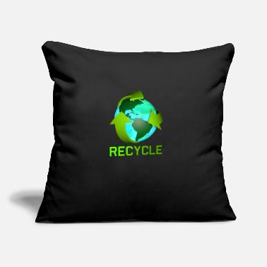 "Recycle the Earth - Throw Pillow Cover 18"" x 18"""