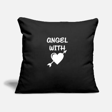 "Angels Wings Angel with heart - Throw Pillow Cover 18"" x 18"""