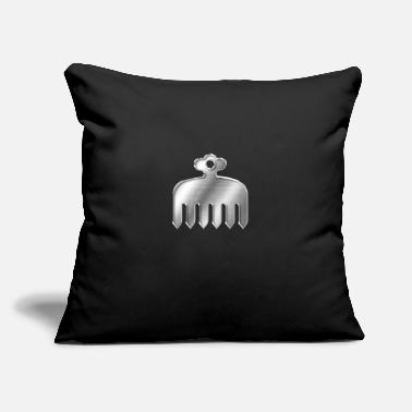 "Akadori Imagawa Clan Kamon Silver Chrome - Throw Pillow Cover 18"" x 18"""