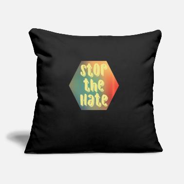 "Stop The Hate Stop the Hate - Throw Pillow Cover 18"" x 18"""
