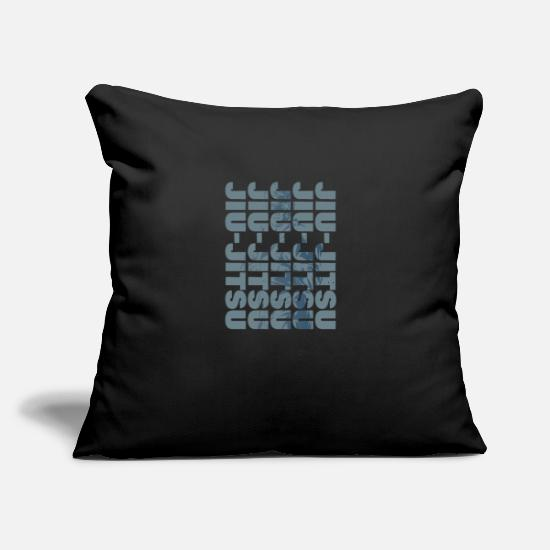 "Mma Pillow Cases - Mma mixed martial arts fighter judo gift jiujitsu - Throw Pillow Cover 18"" x 18"" black"