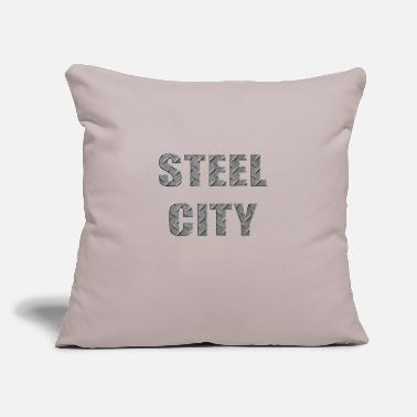 "City Steel City Metal - Throw Pillow Cover 18"" x 18"""