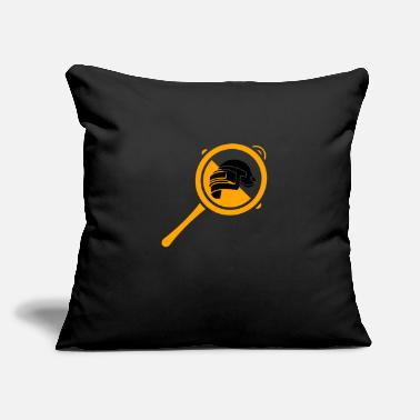 "Bolt-action Rifles PUBG Helmet and Pan - Throw Pillow Cover 18"" x 18"""