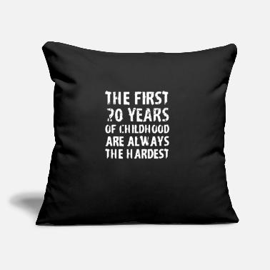 "First The first - Throw Pillow Cover 18"" x 18"""