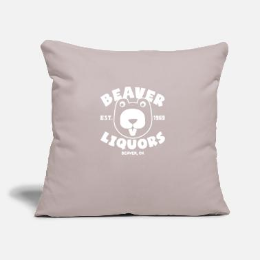 "Liquor Beaver Liquors - Throw Pillow Cover 18"" x 18"""