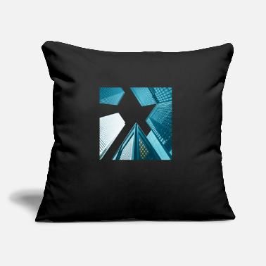 "Building Buildings - Throw Pillow Cover 18"" x 18"""