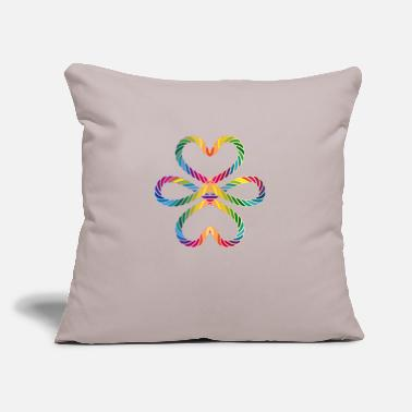 "Lucky Charm colorful intertwined cords in rainbow colors - Throw Pillow Cover 18"" x 18"""