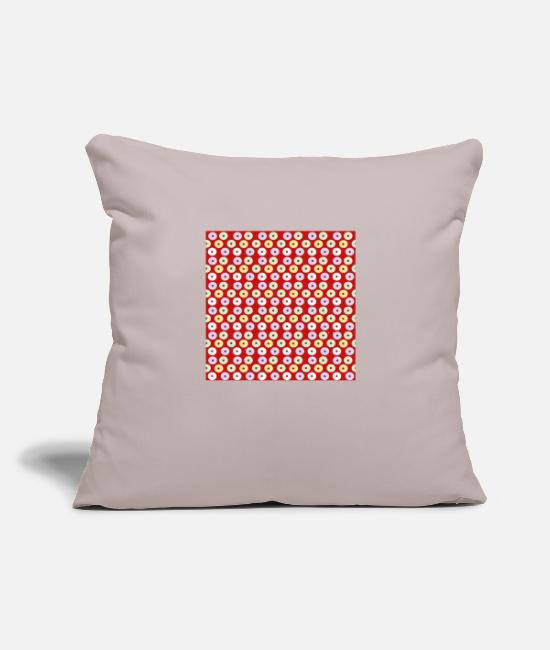 "Reduced Pillow Cases - eye dots red pastel - Throw Pillow Cover 18"" x 18"" light taupe"