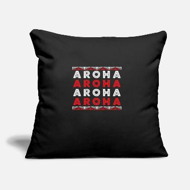 "Haka Maori Aroha Aroha Aroha Love Tribal Tattoo Gift - Throw Pillow Cover 18"" x 18"""