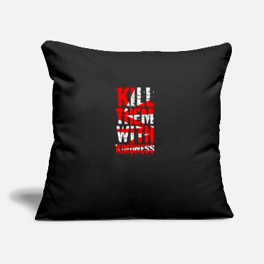 "Stylish Typography Art Design - Throw Pillow Cover 18"" x 18"""
