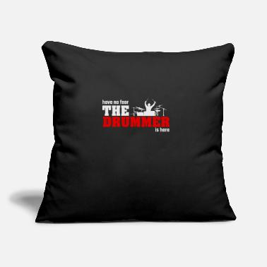 "Rocker The drummer music musician saying gift - Throw Pillow Cover 18"" x 18"""