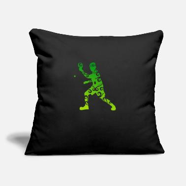 "Father And Son Maori Table Tennis Player Polynesian Tribal Tattoo - Throw Pillow Cover 18"" x 18"""