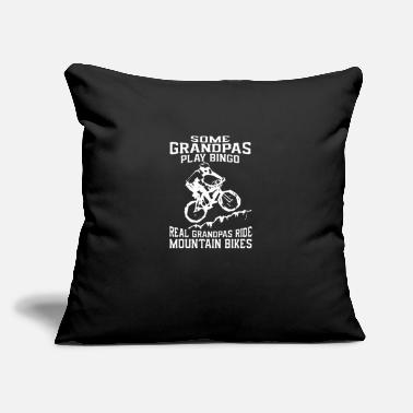 "Real Grandpas Ride Biker Grandpa Real Grandpas Ride Mountain Bikess - Throw Pillow Cover 18"" x 18"""