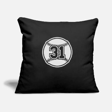 "31 Baseball Vector 1_color TAS - Throw Pillow Cover 18"" x 18"""