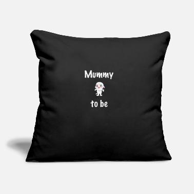 "Mummy Mummy to be - Throw Pillow Cover 18"" x 18"""