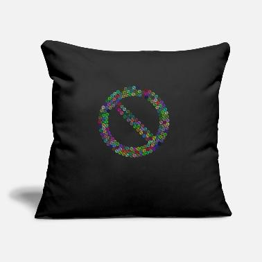 "Flecked Prohibited No Sign Fractal Prismatic - Throw Pillow Cover 18"" x 18"""