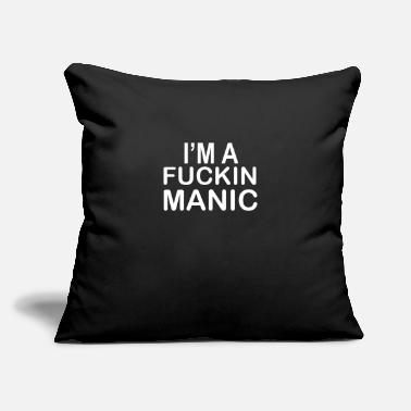 "Manic MANIC - Throw Pillow Cover 18"" x 18"""