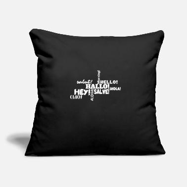 "Hello Hello - Throw Pillow Cover 18"" x 18"""