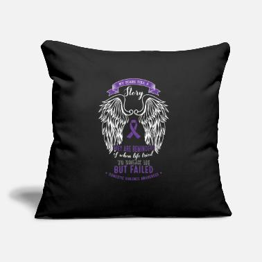 "Violence Abuse - My Stars Tell A Story - Tried To Break - Throw Pillow Cover 18"" x 18"""