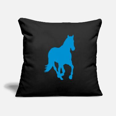 "Wild Horse wild horse - Throw Pillow Cover 18"" x 18"""