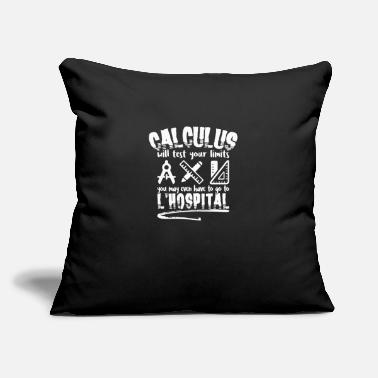 "Calculus CALCULUS: Calculus Will Test Your Limits - Throw Pillow Cover 18"" x 18"""