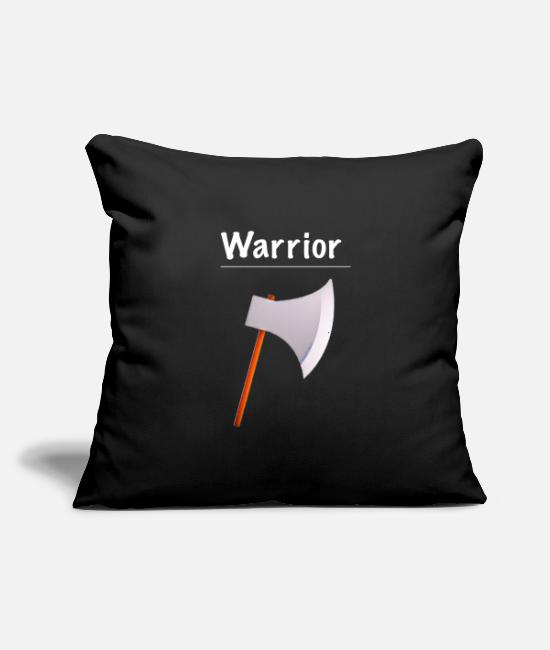 "Video Game Pillow Cases - Ramseys Warrior - Throw Pillow Cover 18"" x 18"" black"