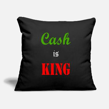 "Cash is King - Throw Pillow Cover 18"" x 18"""
