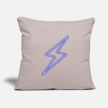 "Lightning Thunderbolt - Power - Flash - Throw Pillow Cover 18"" x 18"""