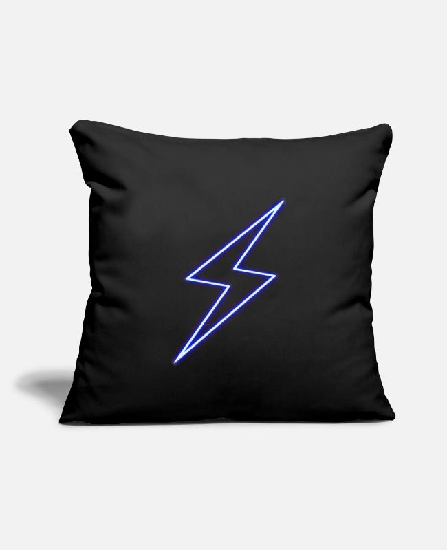 "Zeus Pillow Cases - Thunderbolt - Power - Flash - Throw Pillow Cover 18"" x 18"" black"